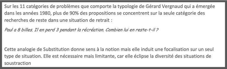Analogie de Substitution soustraction - Emmanuel Sander