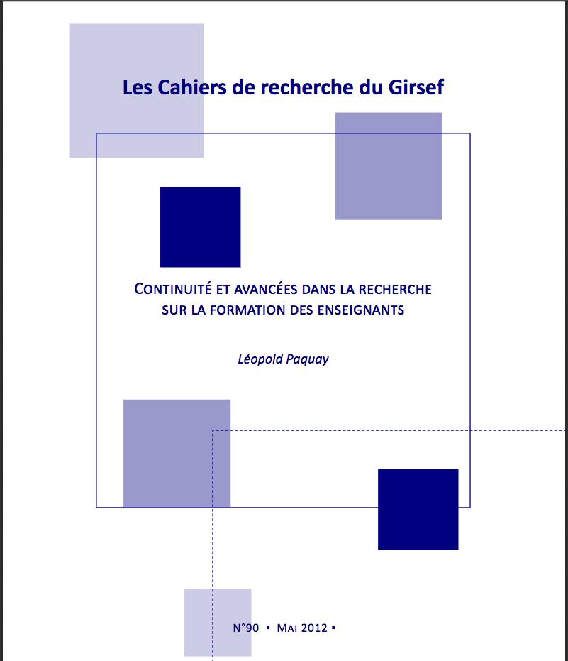 Cahiers du GIRSEF n° 90