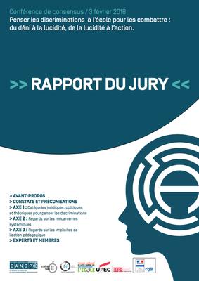 couverture rapport du jury conférence de consensus