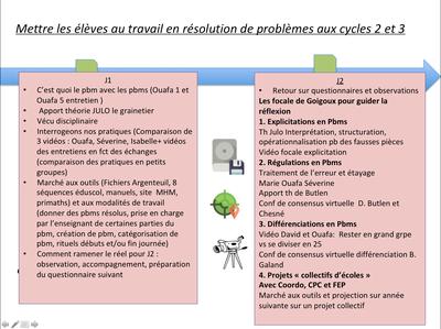 Frise chronologique résolution de pbm cycle 2 et 3