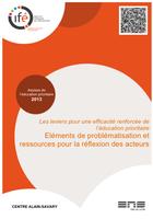livret Assises de l'Éducation prioritaire 2013