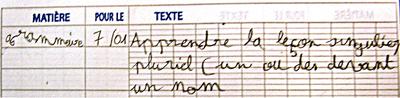 Netter cahier de texte élève