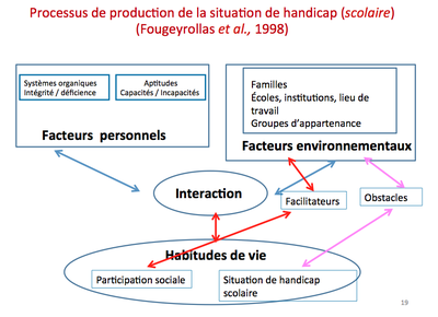 processus de production de la situation de handicap scolaire