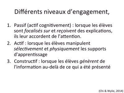Tricot-Différents niveaux d'engagement