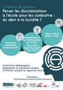 """Conférence de consensus """"Penser les discriminations à l'école pour les combattre : du déni à la lucidité ?"""", mercredi 3 février à Créteil"""