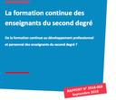 La formation continue des enseignants du second degré.  Rapport des inspections générales (IGEN-IGAENR)